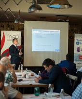 Бурни аплодисменти последваха лекцията на г-н Топалов от СИС Технология